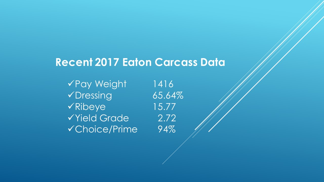 Eaton Carcass Results